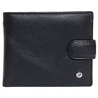 Портмоне мужское кожаное черное F. Leather Collection ALRT-F4 Black, фото 1