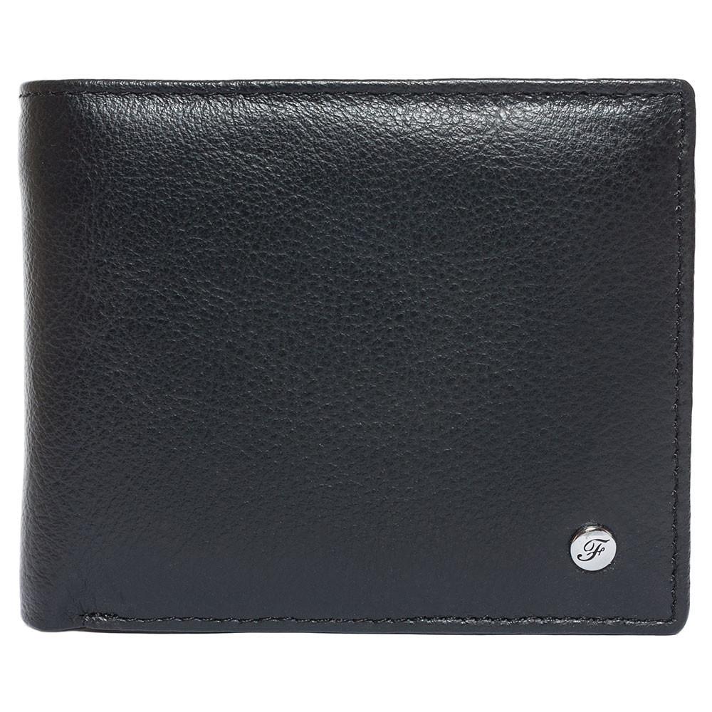 Портмоне мужское кожаное черное F. Leather Collection ALRT-F13 Black