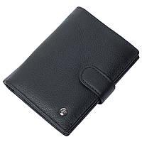 Портмоне мужское кожаное черное с отделением для паспорта F. Leather Collection ALRT-F24 Black, фото 1
