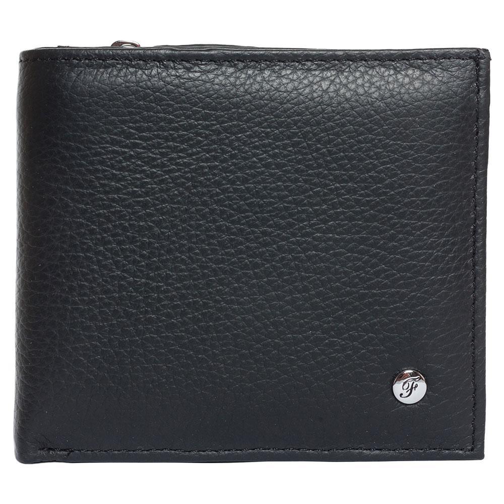 Портмоне мужское кожаное черное F. Leather Collection ALRT-F54 Black