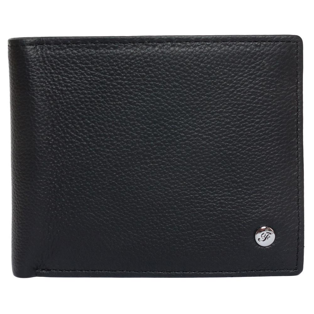 Портмоне мужское кожаное черное F. Leather Collection ALRT-F60 Black