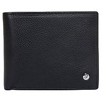 Портмоне мужское кожаное черное F. Leather Collection ALRT-F60 Black, фото 1