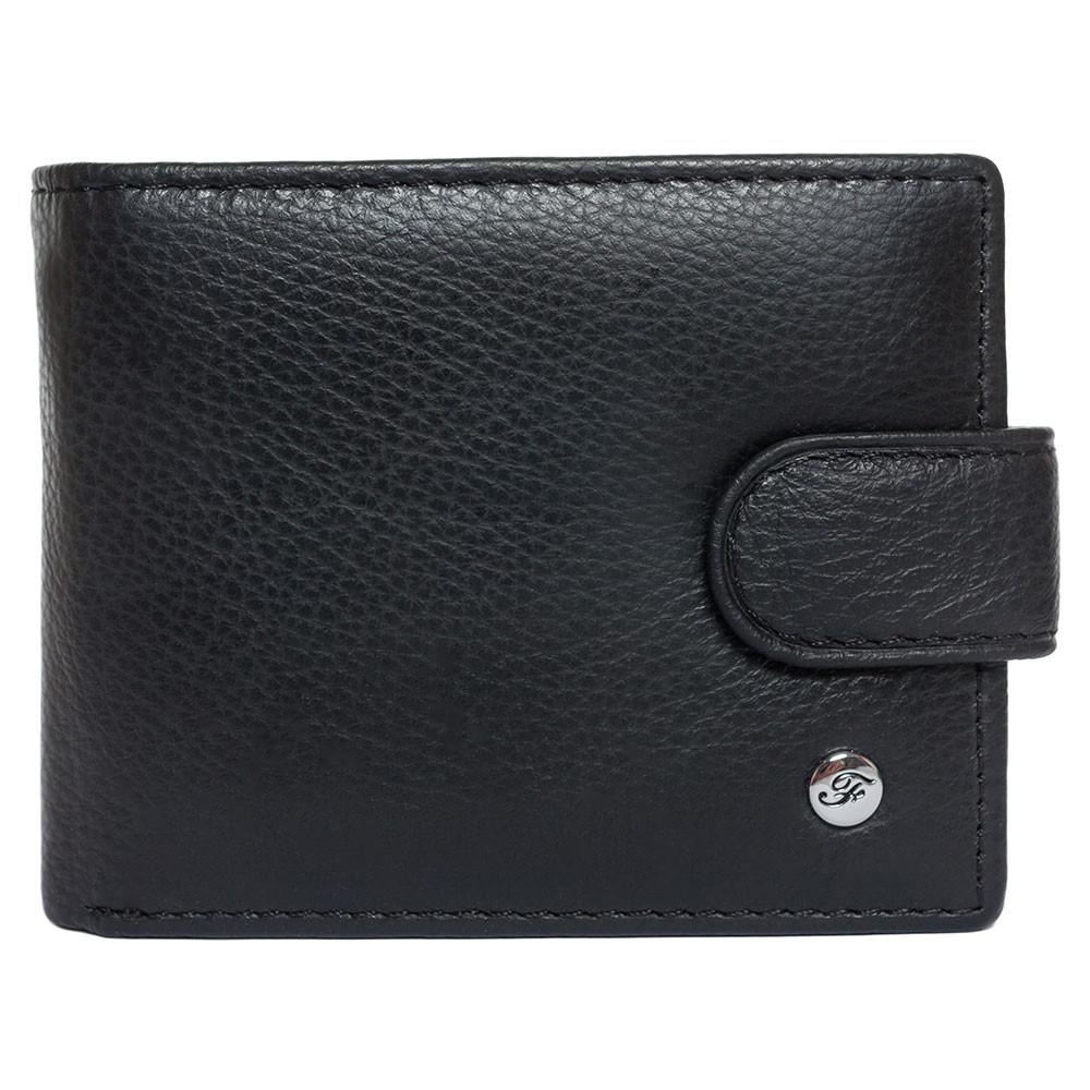 Портмоне мужское кожаное черное F. Leather Collection ALRT-F232 Black