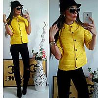 Куртка-ветровка 203 желтая, фото 1