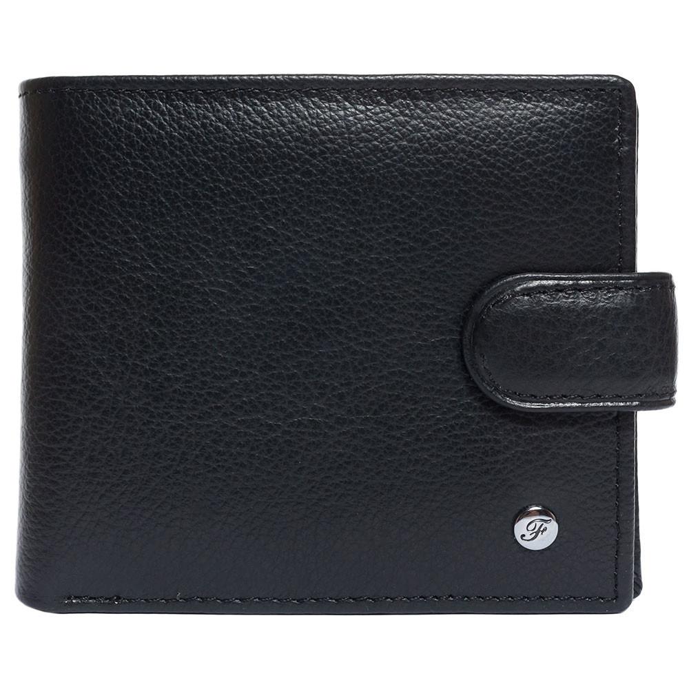 Портмоне мужское кожаное черное F. Leather Collection ALRT-F1301 Black