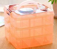 Пластиковый бокс - органайзер для хранения бижутерии, фурнитуры и разных мелочей для всей семьи