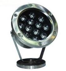 Подводный светодиодный светильник 12W желтый IP68Ecolend