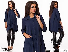 Блуза жіноча з софт віскози асиметричного крою