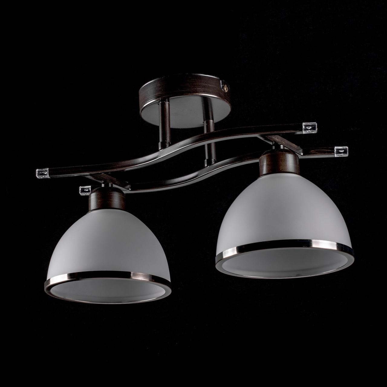 Потолочная люстра на две лампочки (венге) P3-1300/2C/WENGE+WT