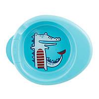 Набор тарелок Chicco Warmy Plate термостойких Голубых (16000.20) (8058664086528)