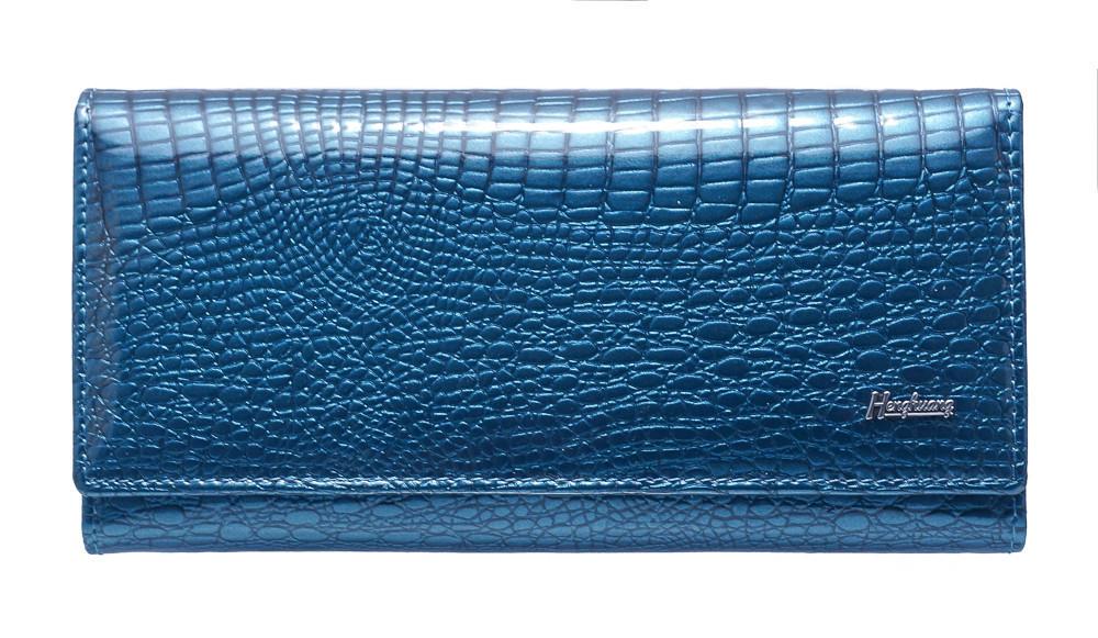 Женский кошелек кожаный AL-AE150-LB синий