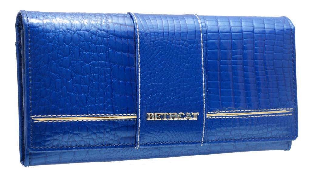 Кожаный Женский Кошелек BETH CAT AE 501-3  синий
