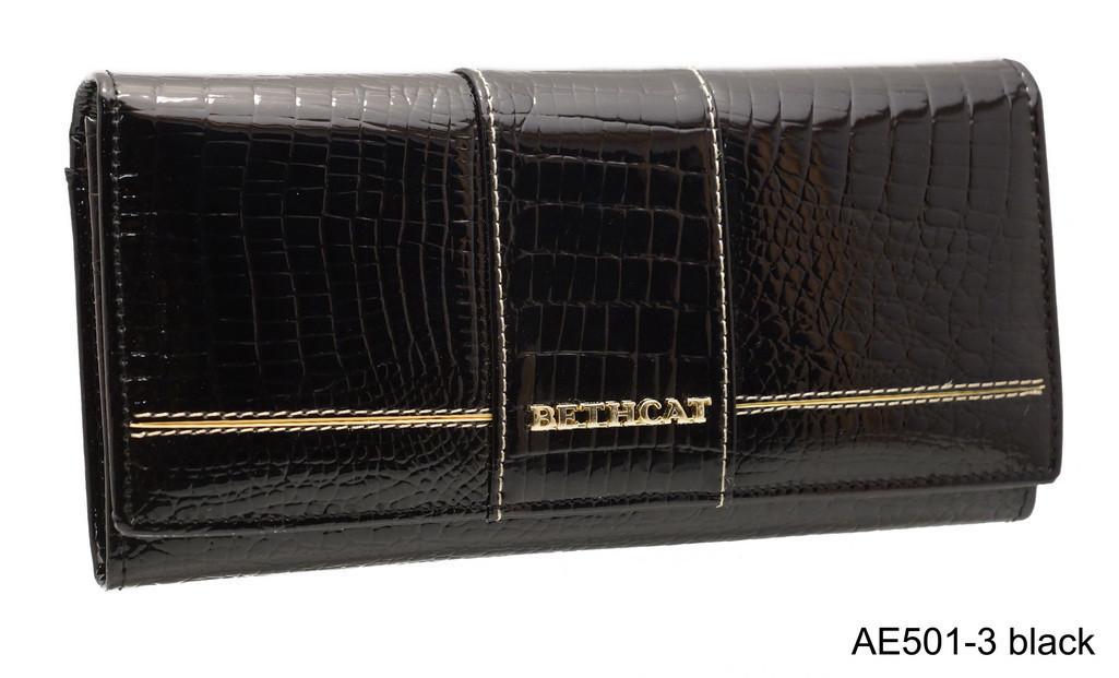 Кожаный Женский Кошелек BETH CAT AE 501-3  черный