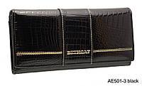 Кожаный Женский Кошелек BETH CAT AE 501-3  черный, фото 1