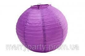 Подвесной бумажный шар плиссе 30 см фиолетовый