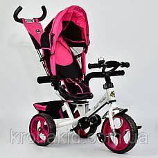 Велосипед трехколесный 5700 - 3980 РОЗОВЫЙ ПОВОРОТНОЕ СИДЕНЬЕ, КОЛЕСА EVA (ПЕНА), фото 2