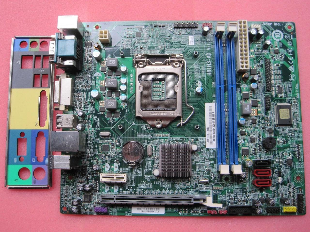 Материнська плата Acer H81H3-AD (s1150) БО