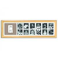 Рамка для слепков ручек и ножек Baby art First Year Print Frame natural ( 1-й год жизни, натуральная), фото 1