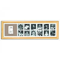 Рамка для слепков ручек и ножек Baby art First Year Print Frame natural ( 1-й год жизни, натуральная)