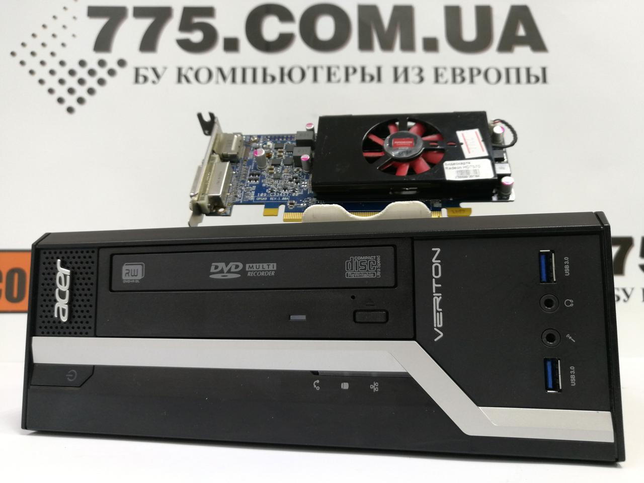 Игровой компьютер Acer Veriton X2631G, Intel Pentium G3220 3.00GHz, RAM 6ГБ, HDD 250ГБ, HD 7570 1ГБ