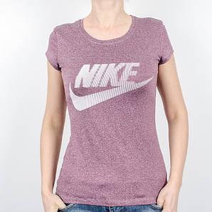 Женская спортивная футболка, Nike (Бордовый, мулине)