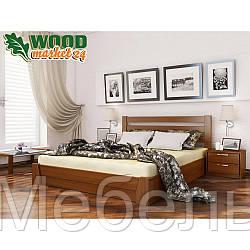 Деревянная кровать Виктория Люкс с ПМ 160*190(200)