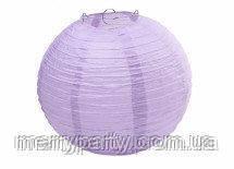 Подвесной бумажный шар плиссе 25 см светло-сиреневый