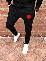 Мужские спортивные черные весенние штаны, чоловічі штани Nike, Реплика