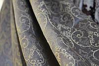 Шторы красивые серобежевые с золотым узором в зал,спальню и прихожую
