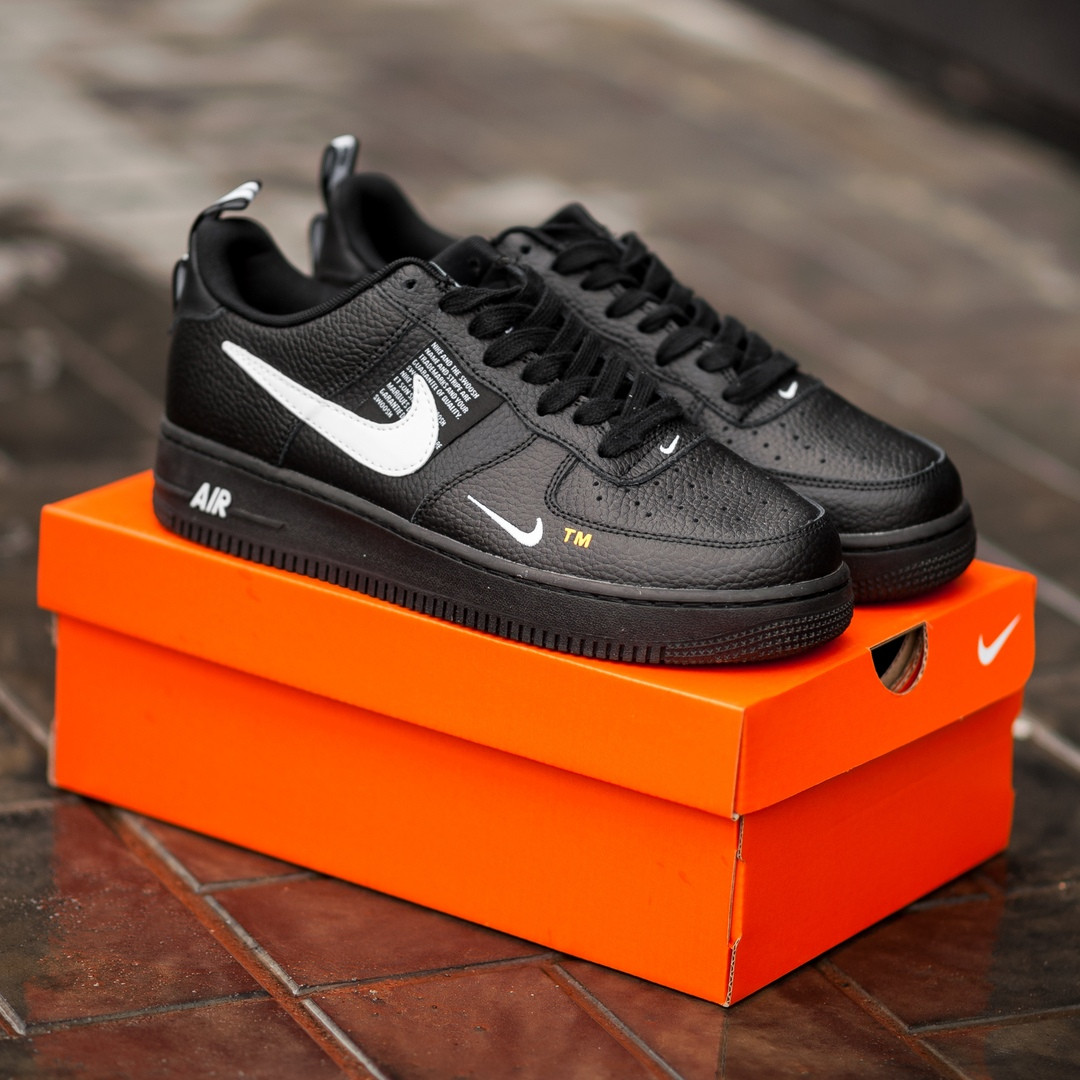 Мужские кроссовки Nike Air Force 1 Utility black