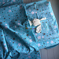 Постельный набор в детскую кроватку (3 предмета) Звездочка голубой