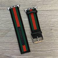 Ремешок к часам Apple Watch Gucci Band 42/44 Black/Green/Red