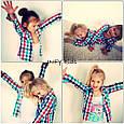 """Рубашка детская """"Оззи"""" в клеточку р.110, фото 3"""