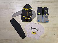 Спортивный костюм 3 в 1 для мальчика оптом, Seagull, 1-5 лет,  № CSQ-52272, фото 1