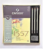Набор Склейка для графики1557 17,5*24см, 180г/м2, 40л.,Canson +3 карандаша: НВ, 2В, 6В Royal Talens в коробке