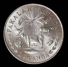 Монета Тонга 2 паанга 1978 г.