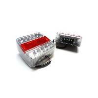 LED Ліхтар задній L1070-BL  14LED(білий-червоний) квадратний корпус (Poland)