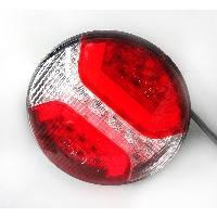 LED Ліхтар задній L1837. 34 LEDs (білий-червоний) круглий корпус (Poland)