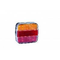LED Фонарь задний L1817  20 LED (красно-оранж) квадратный корпус (Poland), фото 2