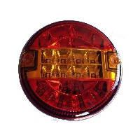 LED Ліхтар задній L2203  20 LEDs (червоний-помаранчевий) круглий корпус  (Poland)