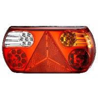 LED Ліхтар задній правий L1827  32LED (червоний-білий-помаранчевий) овальний корпус (Poland)