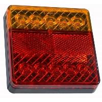 LED Ліхтар задній L1810 10LED (червоний-помаранчевий) квадратний корпус (Poland)