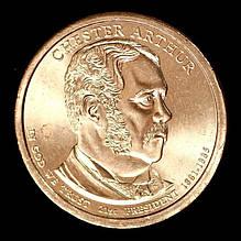 Монета США.1 доллар 2012 г. 21 Президент США Честер Алан Артур
