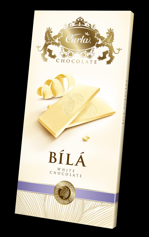 Carla. Белый шоколад, 80гр. Чехия