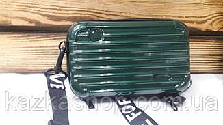Пластиковый женский клатч прямоугольной формы на один отдел с регулируемым ремешком, фото 2