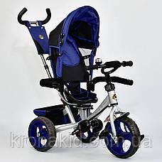 Велосипед трехколесный 5700 - 4230 СИНИЙ ПОВОРОТНОЕ СИДЕНЬЕ, КОЛЕСА EVA (ПЕНА) , фото 2