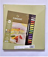 Набор Склейка для пастели MI-TEINTES А4, 160г/м2, 12л.,Canson +Пастель Royal Talens 12шт.в подарочной коробке
