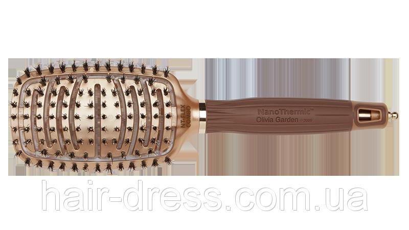 Щётка для волос Olivia Garden Nano Thermic FLEX COMBO OGBNTFLCOMBO
