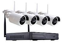 Набор видеонаблюдения 4 камеры с WIFI