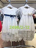 Платье для девочек оптом, 2-12 лет,  № 2496